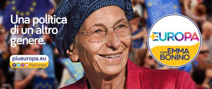 Presentato il simbolo della lista Più Europa con Emma Bonino
